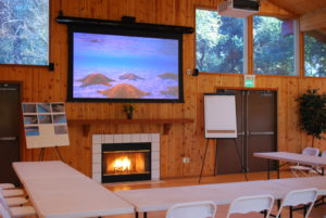 Pavilion at Redwood Estates meeting setup