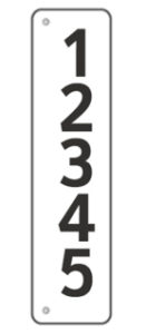 Reflective House Number