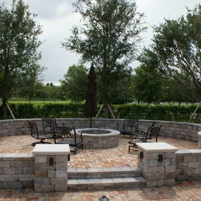 Full Retaining Wall Backyard Installation