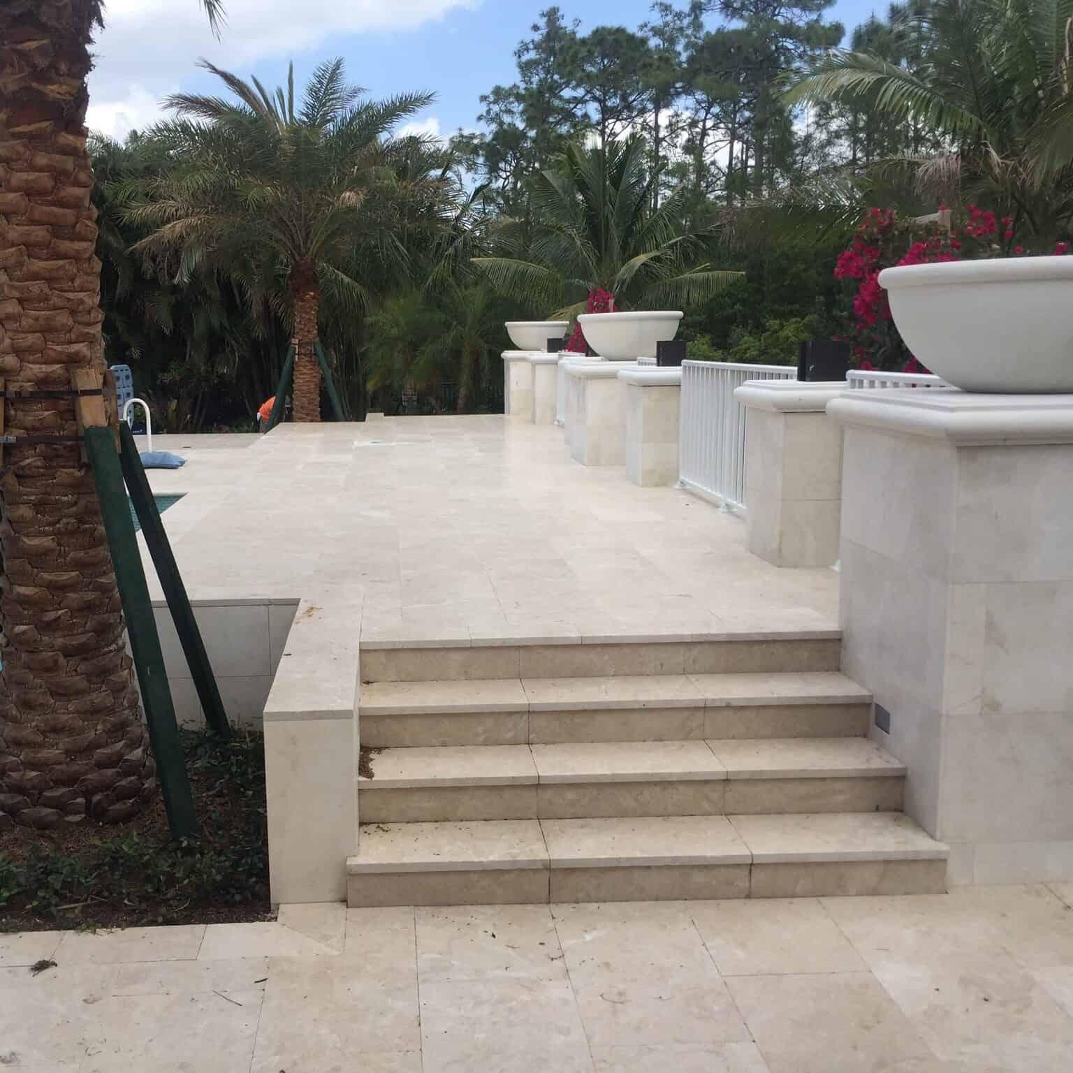 Luxurious Backyard Retaining Wall Installation