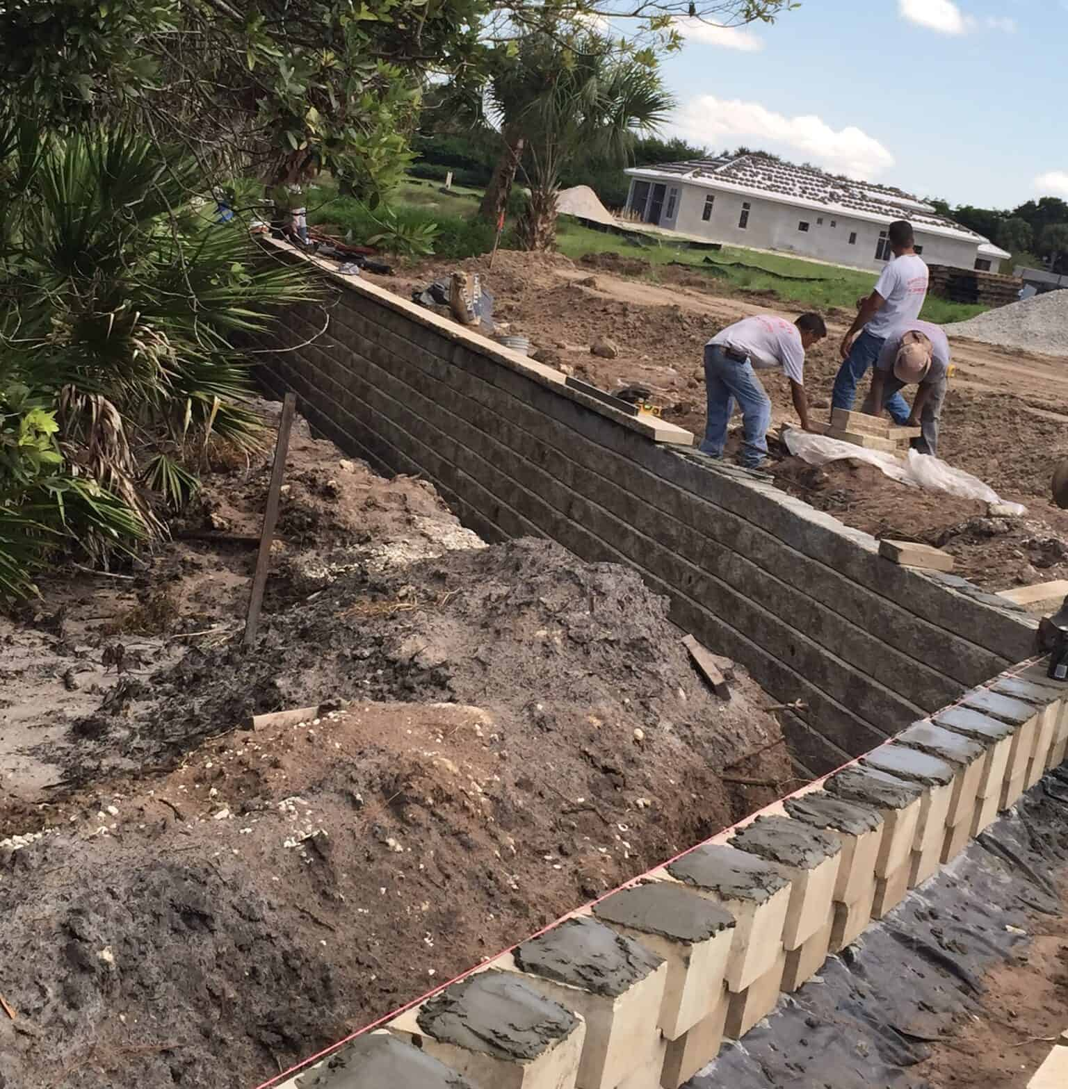 Luxurious Commercial Retaining Wall Installation