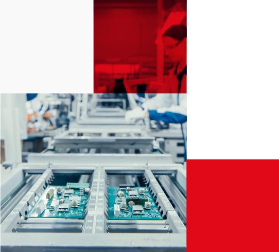 Electronics Factory Assembling Circuit Boards