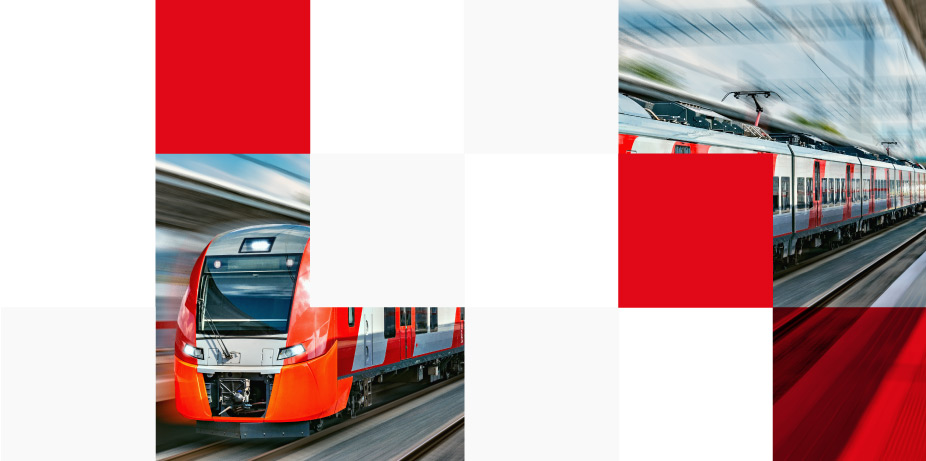 Moving high speed train