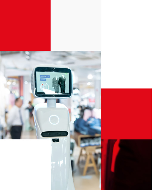 Robotics Trends technology in smart retail business concept