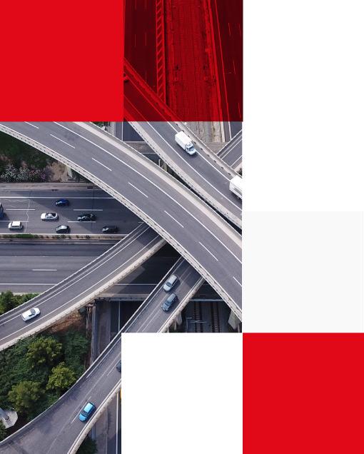 aerial view of motorway multilevel junction