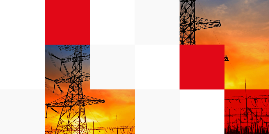 Electric tower at sunset