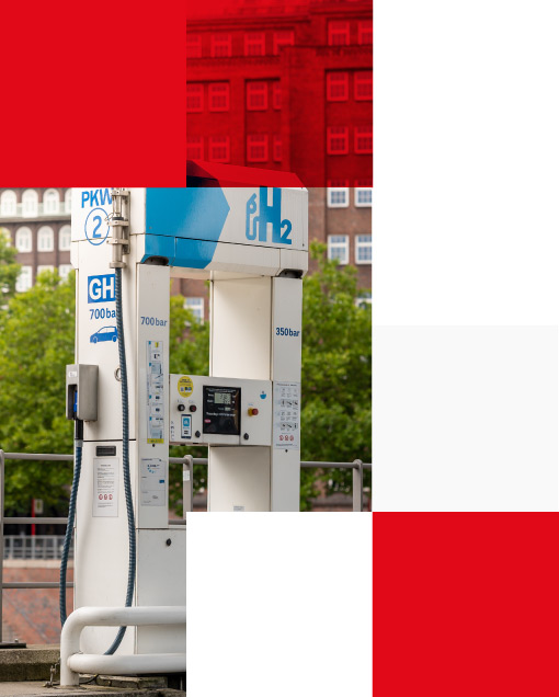 hydrogen filling station in Hamburg, Germany
