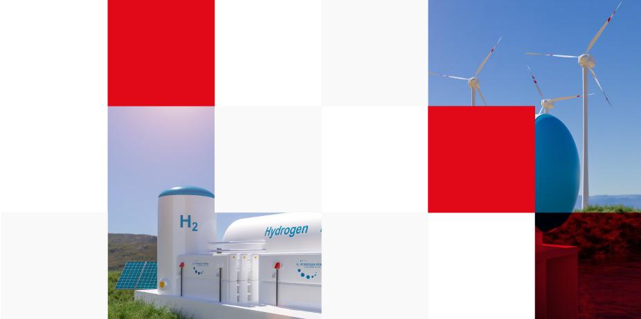 hydrogen gas solar panels and wind turbine
