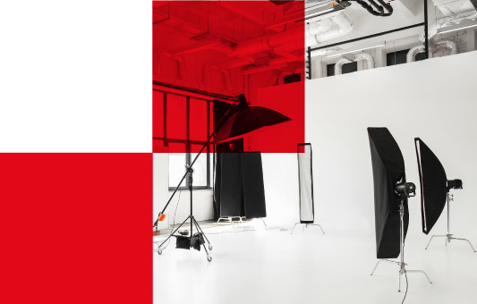 modern photography studio with professional equipment
