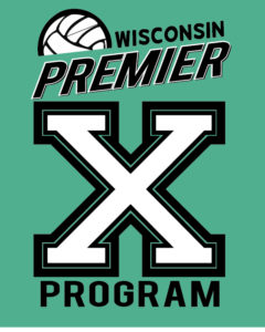 wisconsin Premier X program logo for middle school volleyball players