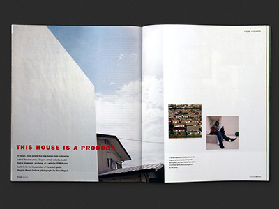 Dwell Magazine, Feature Spreads