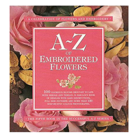 A to Z of Embroidered Flowers book cover
