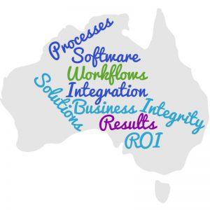 Business processes wordcloud