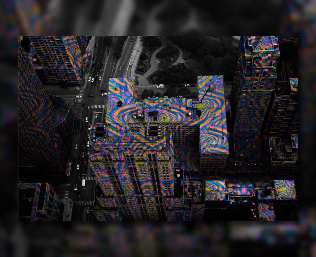 Psychedelic Chicago, 2018. Digital.