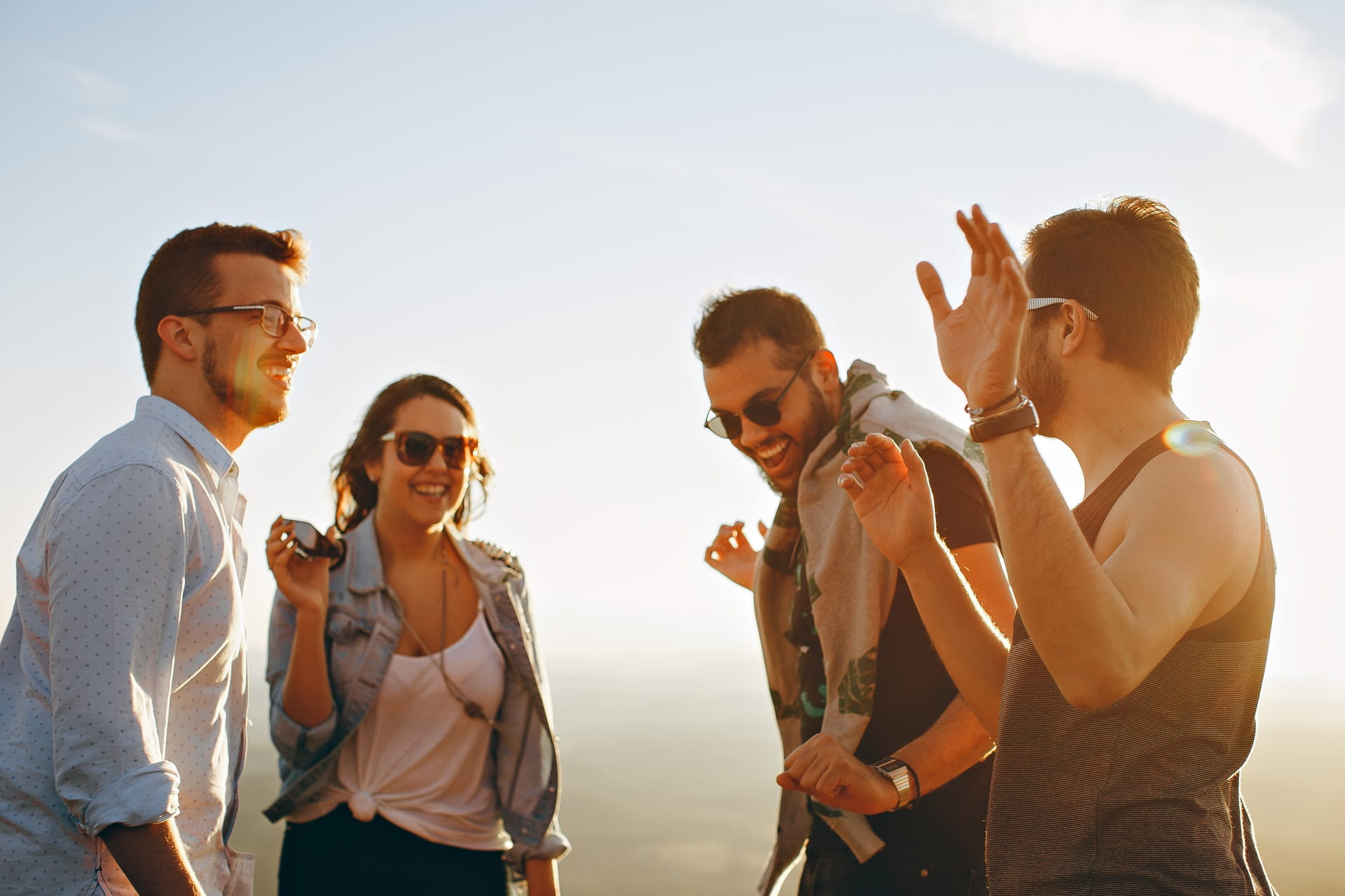 group of people having fun together