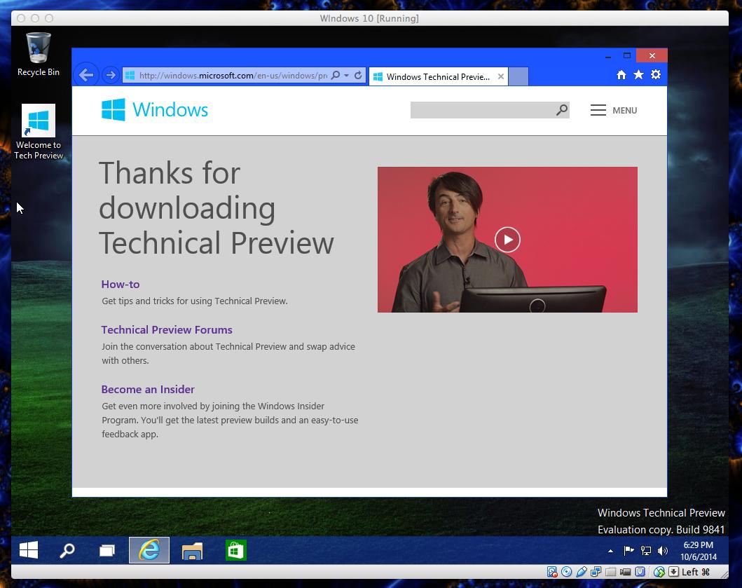 Intro by Joe Belfiore, Microsoft's VP of OSs. You heard me.