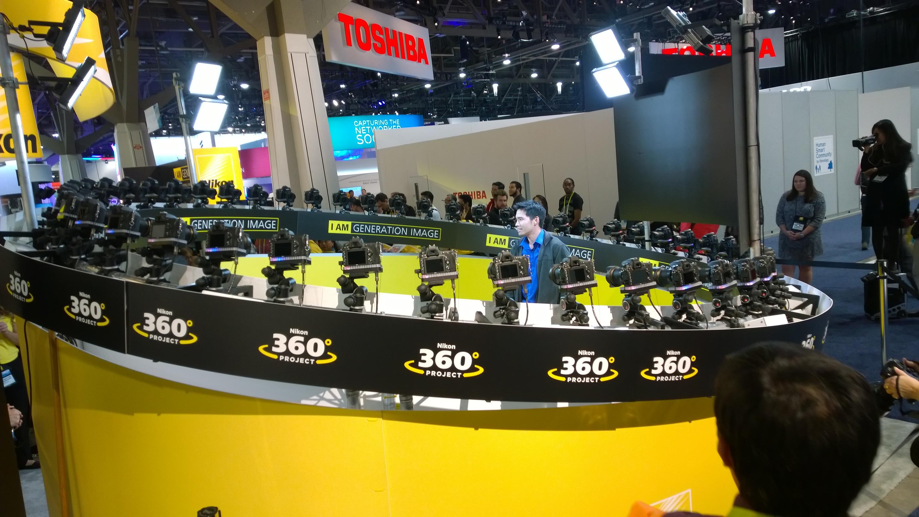 The 360-degree photo setup was impressive