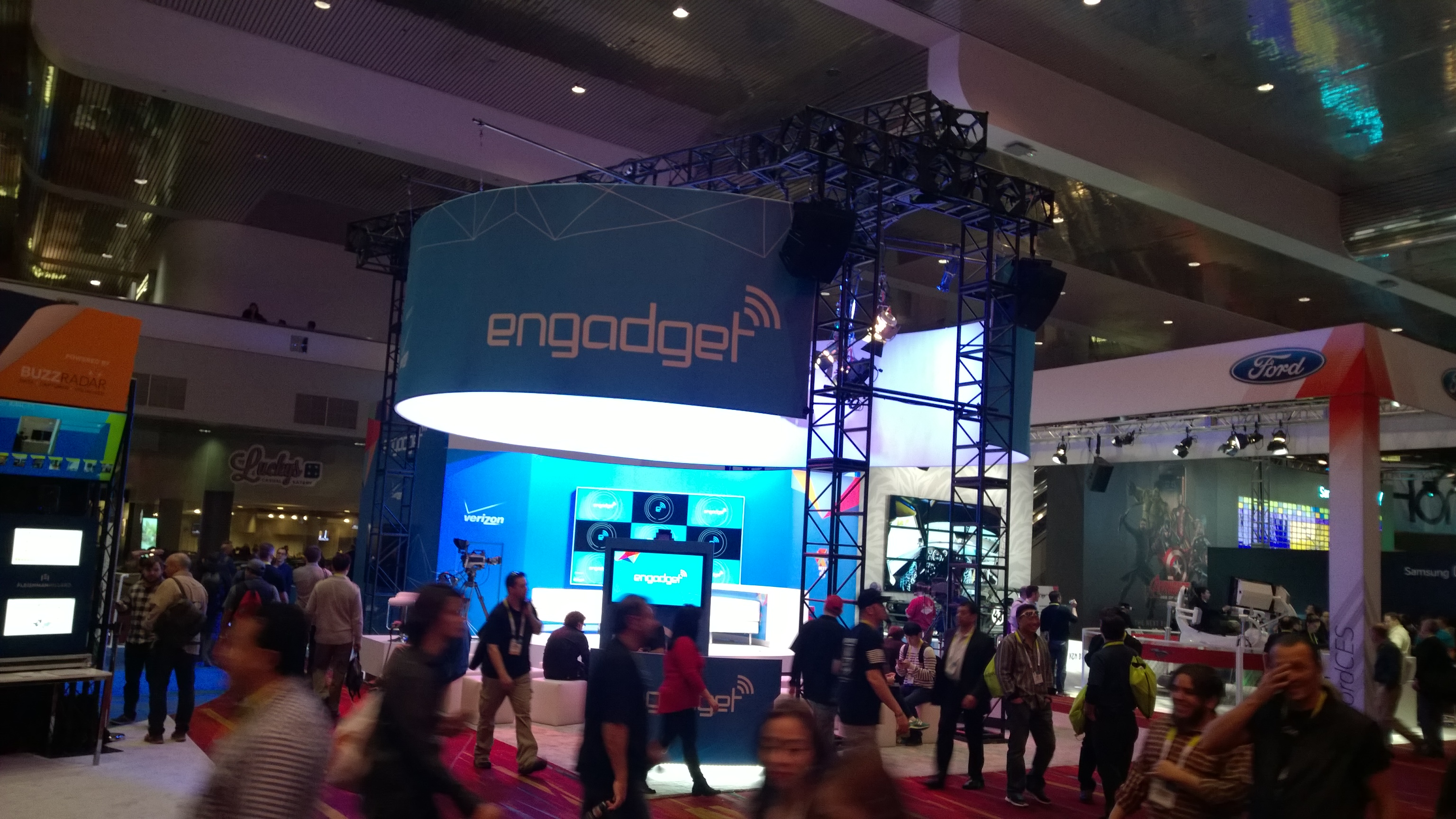 Engadget booth