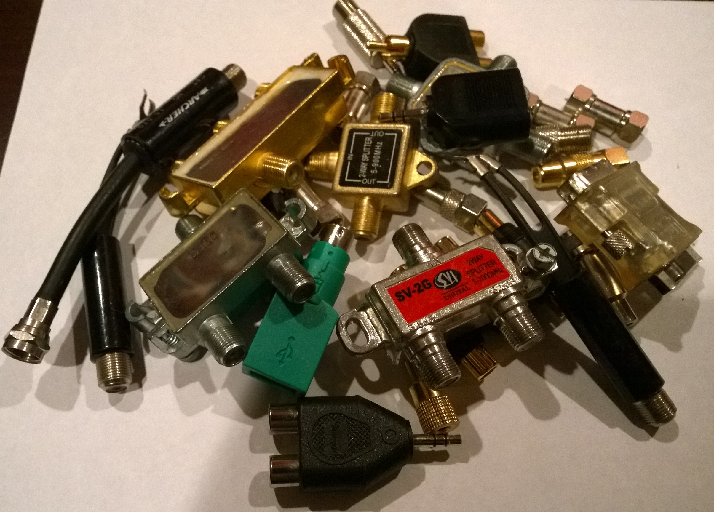 Adapters from Radio Shack