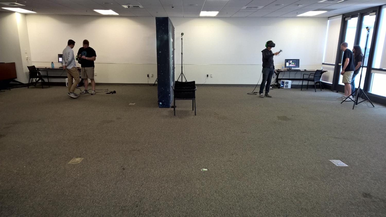 The HTC / Vive demo area