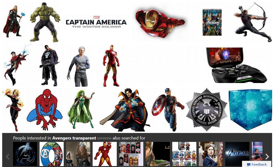 Avengers transparent screen - Bing image search results