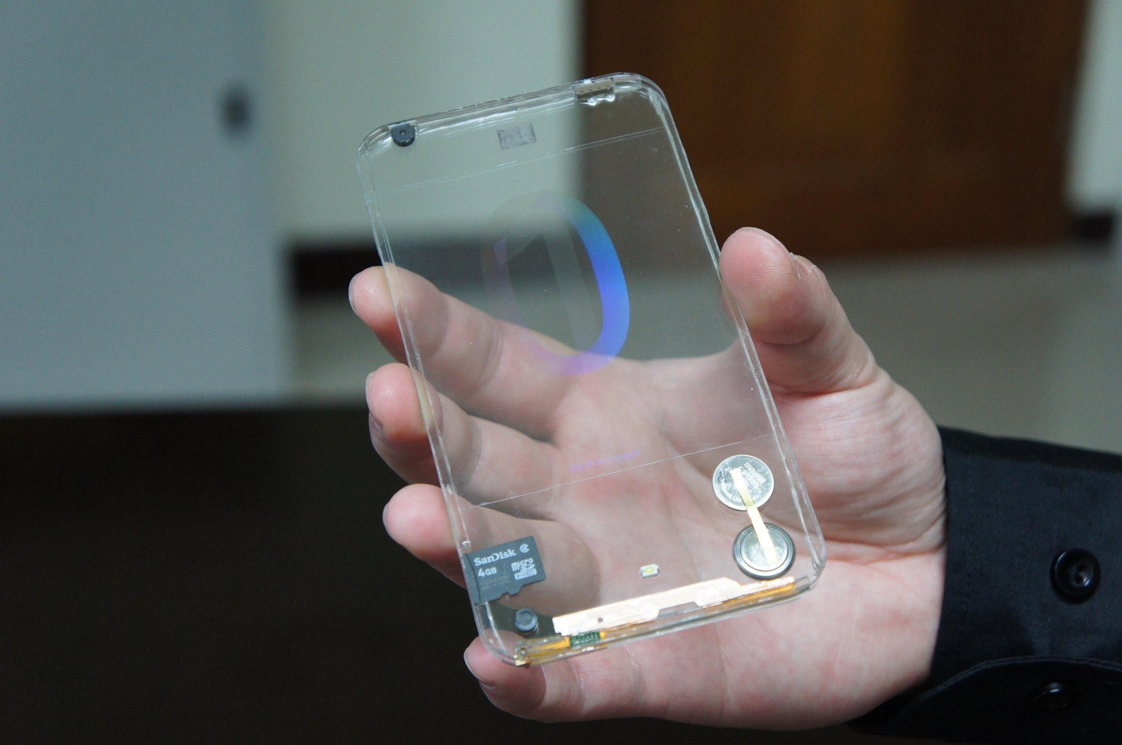 Transparent phone that was apparently supposed to be a real thing but then wasn't