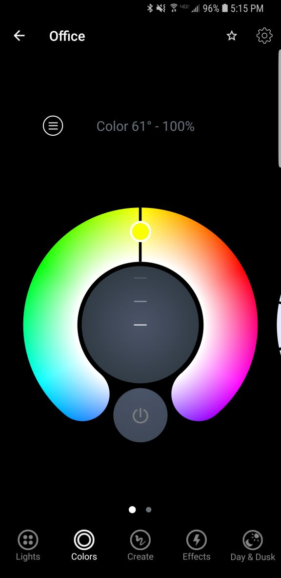 Color selection ring