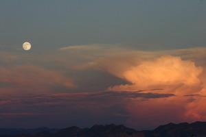 Moon over a desert storm.