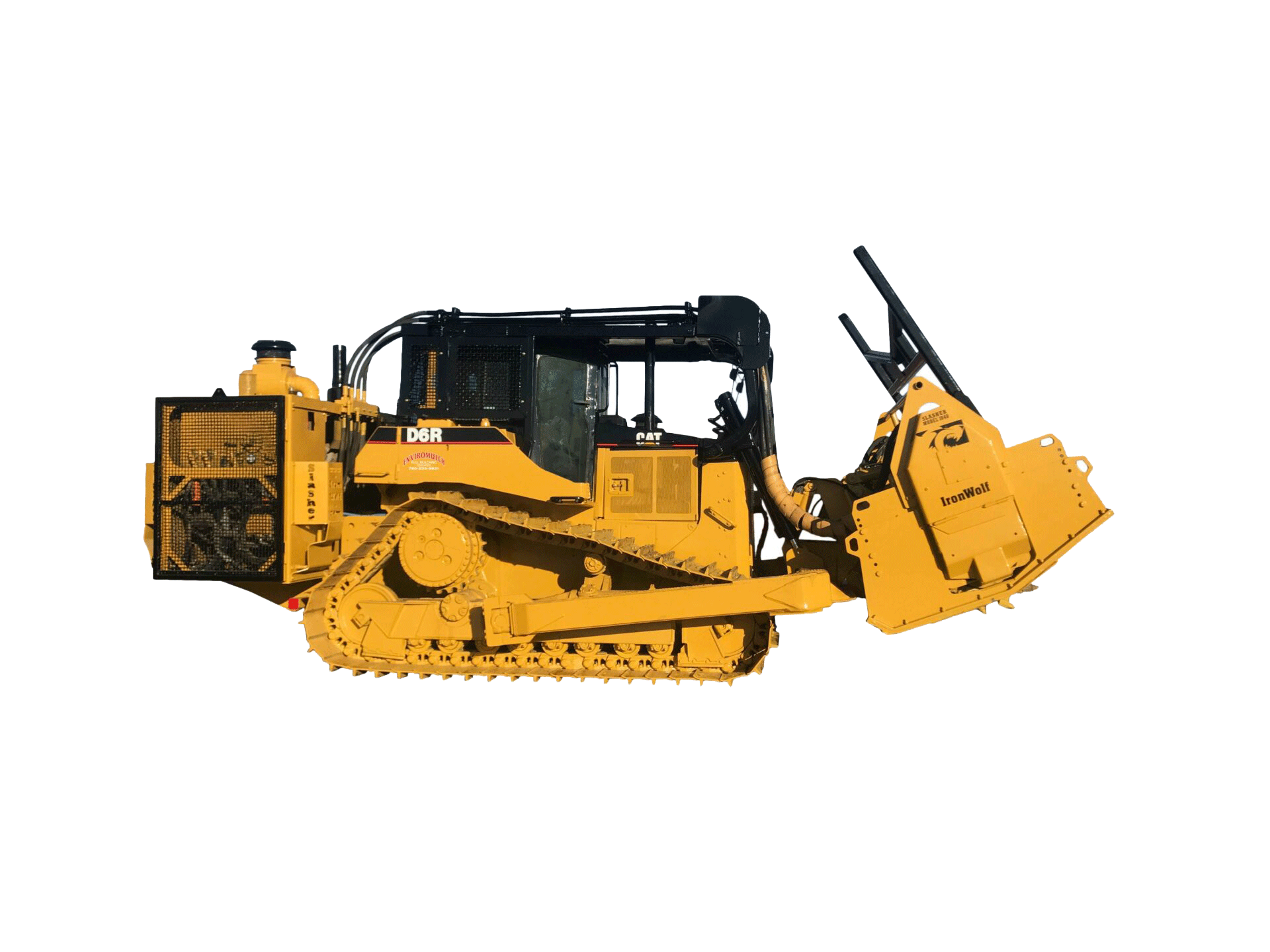 Equipment Quantity: 1 </br> Horsepower: 630 HP </br>  Cutting Drum Width: 120 in (10 ft) </br>  Overall Length: 332 in (27.7 ft) </br> Overall Height: 144 in (12 ft) </br>  Overall Width: 144 in (12 ft) </br>  Ground Clearance: 24 in (2 ft) </br>  Weight (Crawler and Attachments): 88,3321bs (40,066kgs)