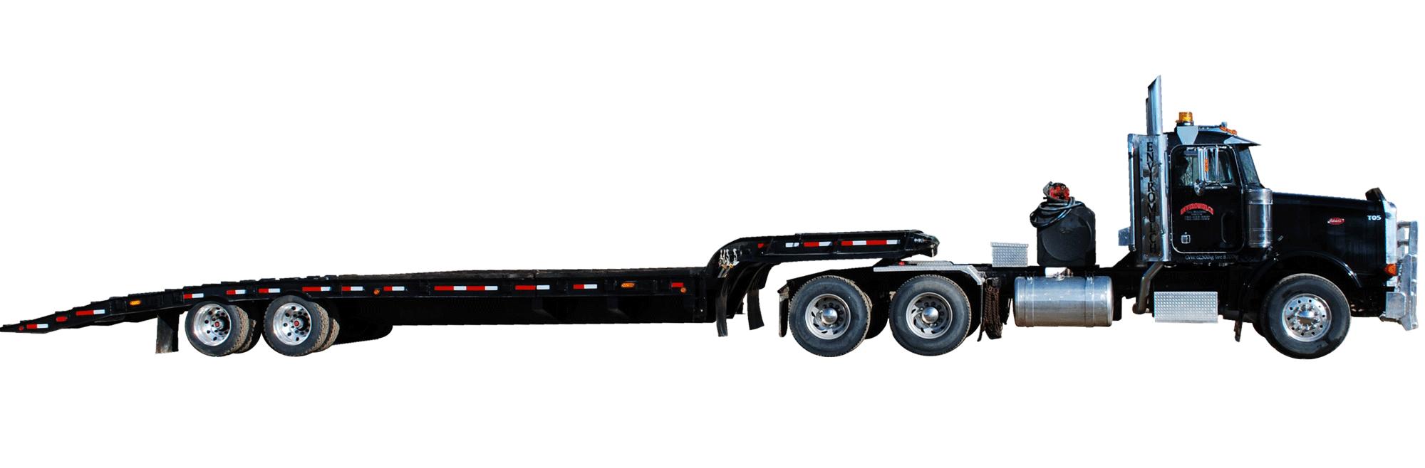 <ul>  <li>Tandem Truck</li>  <li>Tandem Tilt-Deck Trailer</li> </ul>