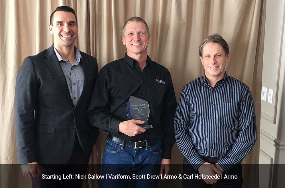Armo-Tool Awarded the Vari-Form Supplier Excellence Award for 2017