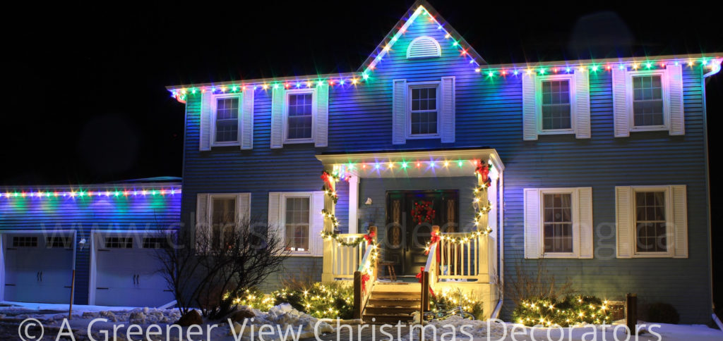 Traditional Multi-Coloured House Lights