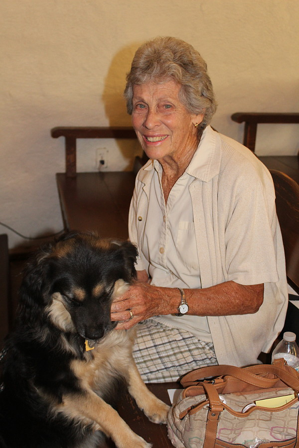 Margaret Harnsberger and Friend at the Blessing of the Animals