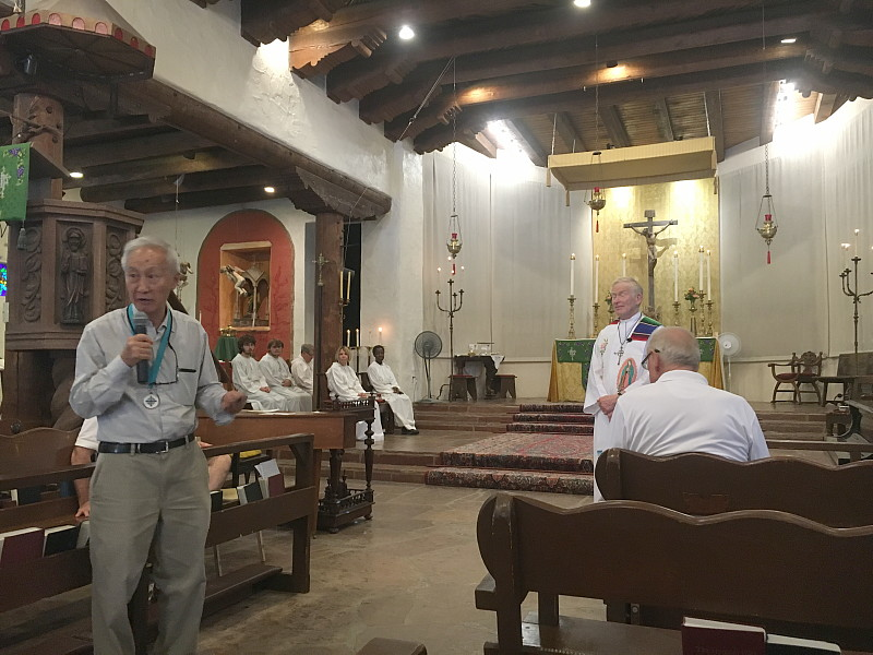 """Senior Warden Ke Chiang """"John"""" Hsieh announces the name of our new Rector, Fr. David Hedges!"""