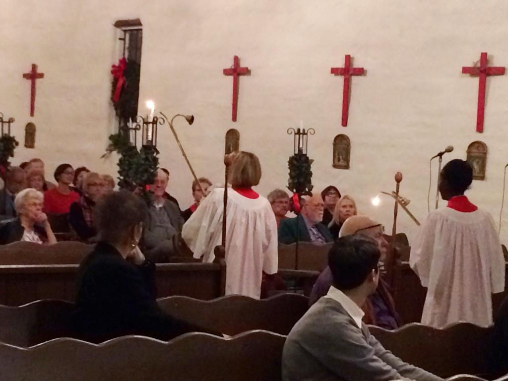 Lighting the Candles for the High Mass on Christmas Eve