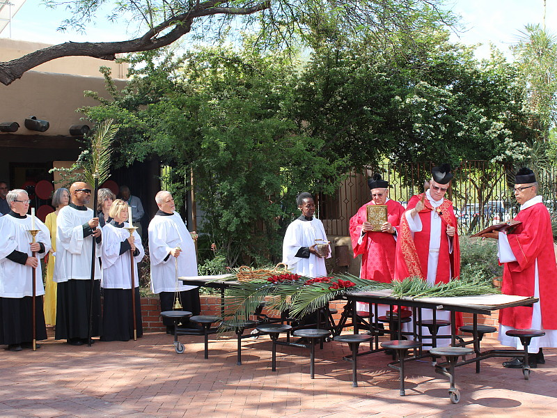 Palm Sunday in the Courtyard