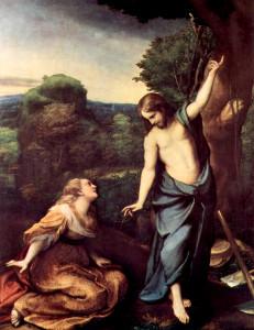 Correggio - Noli Me Tangere - (Do not hold me.) 1518