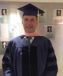 Dr. Douglas Leightenheimer at graduation, May 12, 2016.