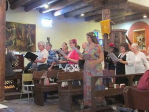 The Choir Sings at Easter