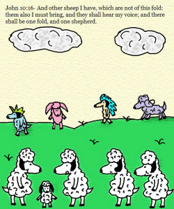 I have other sheep that do not belong to this fold. Courtesy of http://www.churchhouseclipart.com/.