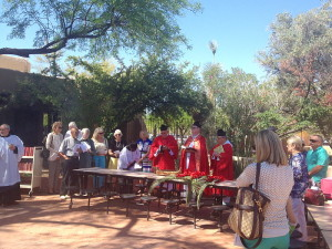 Palm Sunday in the Foundations Courtyard