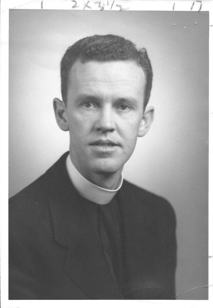 Rev. John Clinton Fowler before St. Michaels