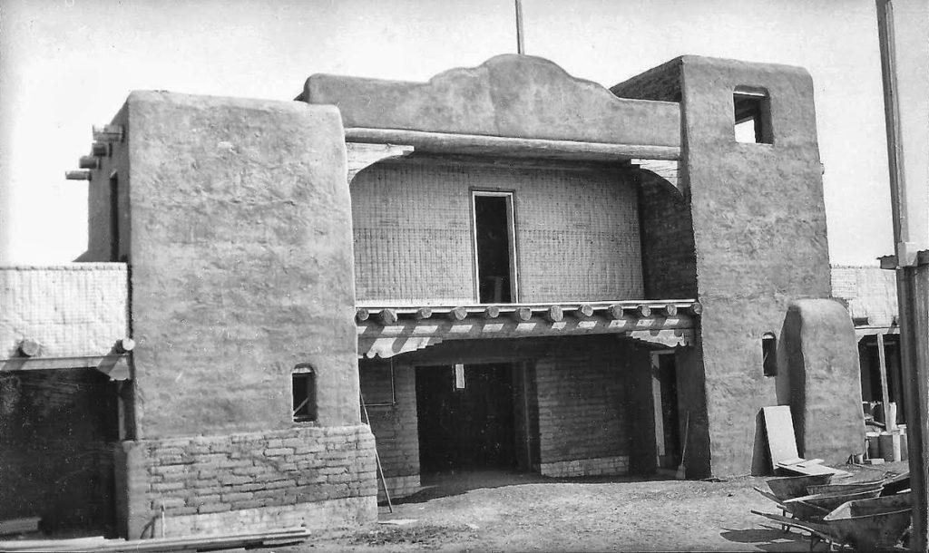 The church under contruction 1953