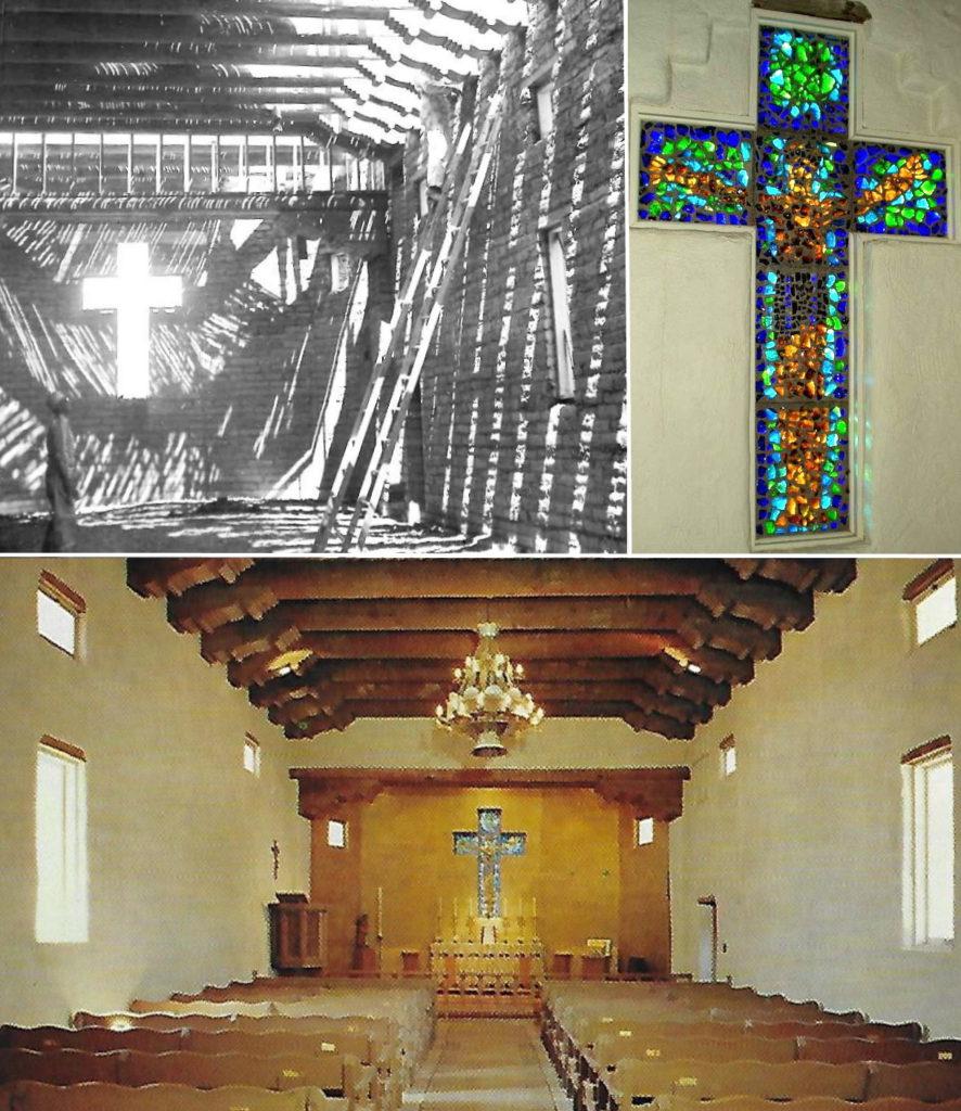 Montage: St. Michael's glass cross