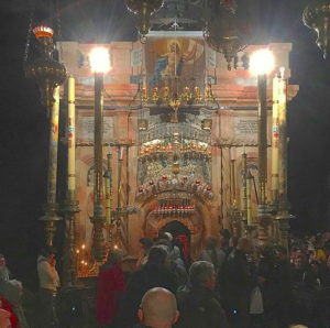 This edicule encloses the empty Tomb of Jesus Christ - for Christians, the center of the world. I was blessed to spend a few moments inside it. I am so grateful for the opportunity to make this pilgrimage.