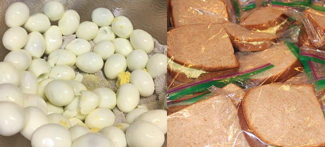 Egg Salad sandwiches for Casa Maria
