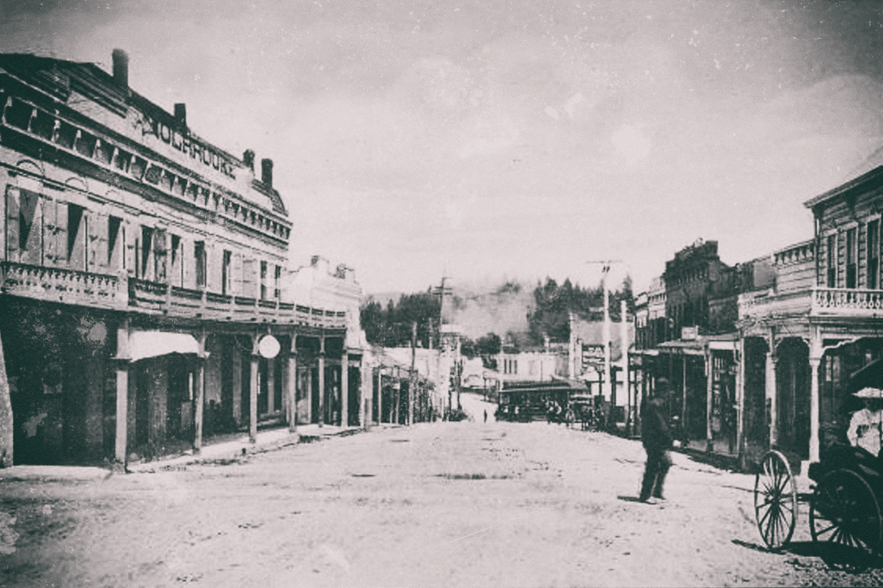 View of Holbrooke Hotel in the 1800s