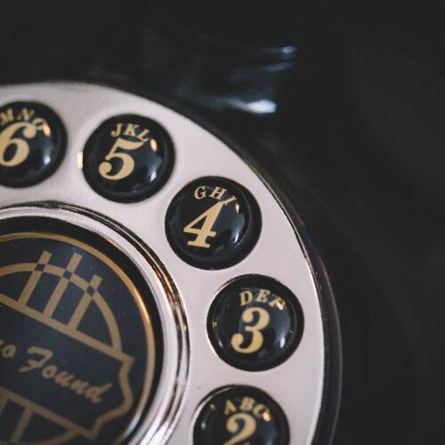 Vintage Telephone Closeup