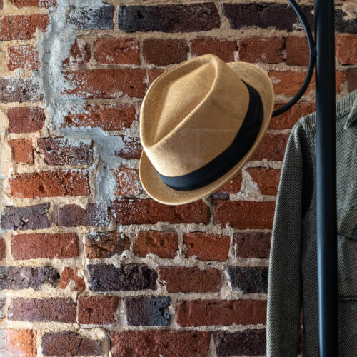 Brick wall with Hat