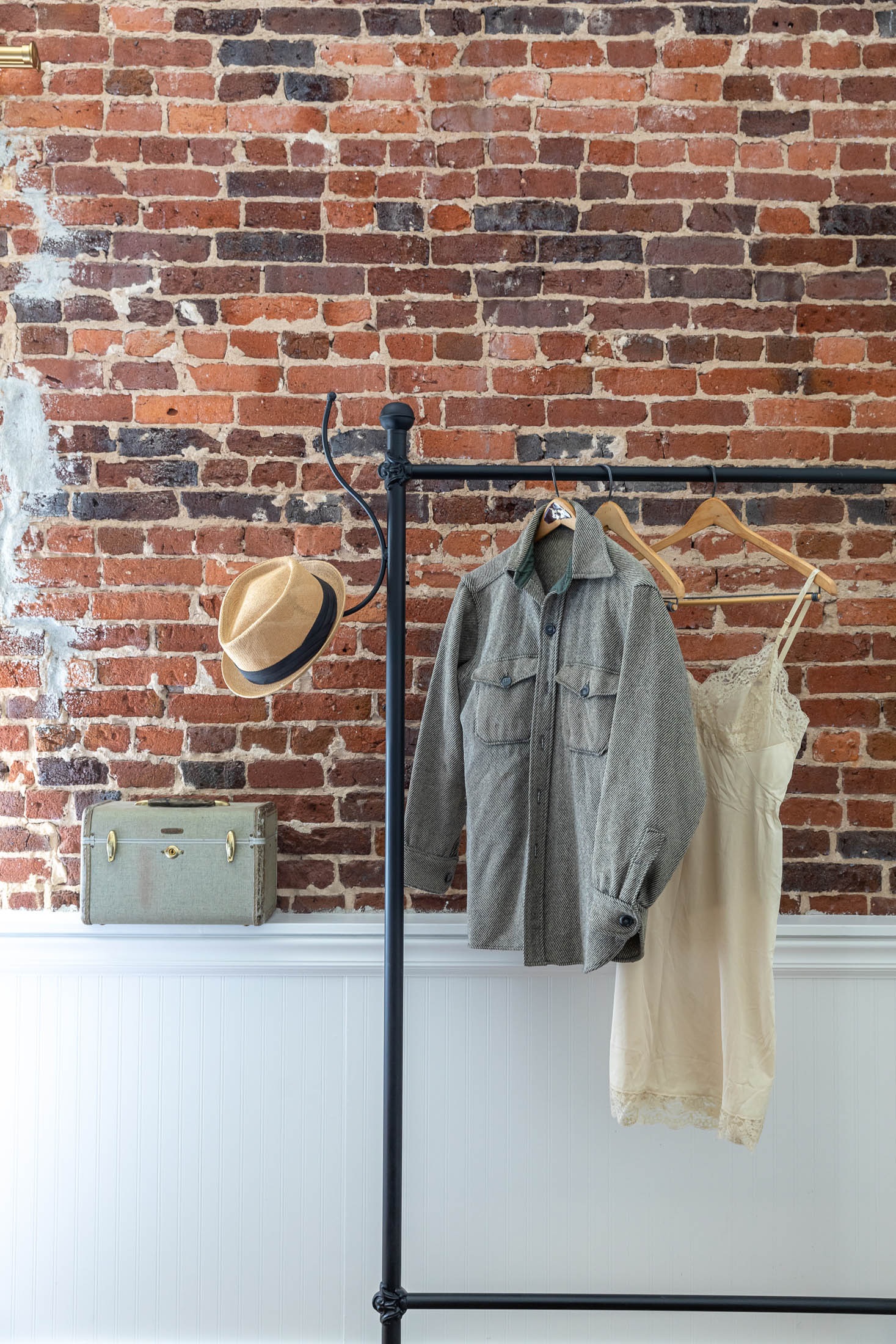 Brick Wall and Clothesrack